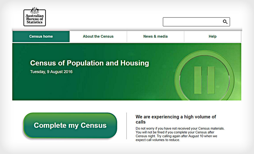 Australian Census Disrupted by DDoS