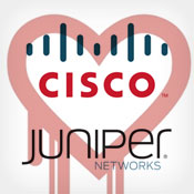 Cisco, Juniper Issue Heartbleed Alerts