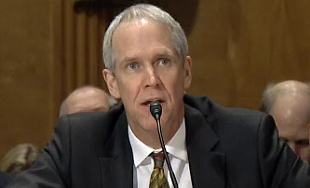 GAO's Gregory Wilshusen testifies before a Senate panel.