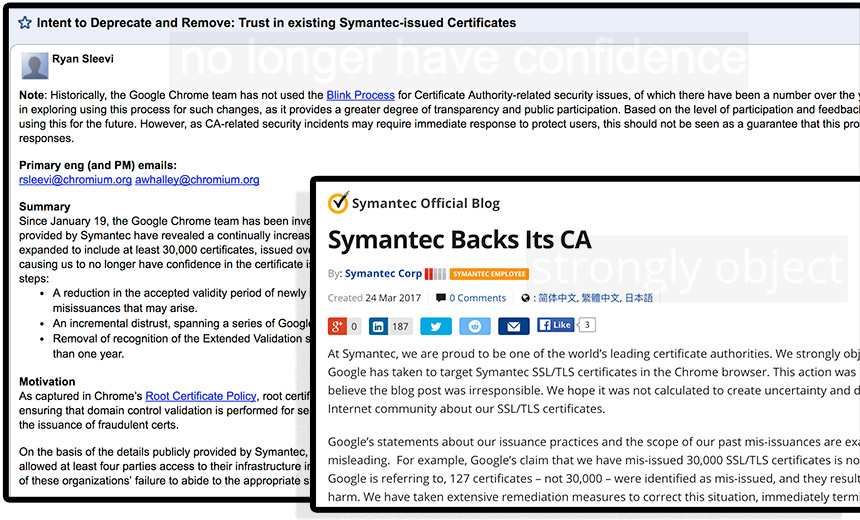 Google Outlines Plan to Reject Symantec's Digital Certificates