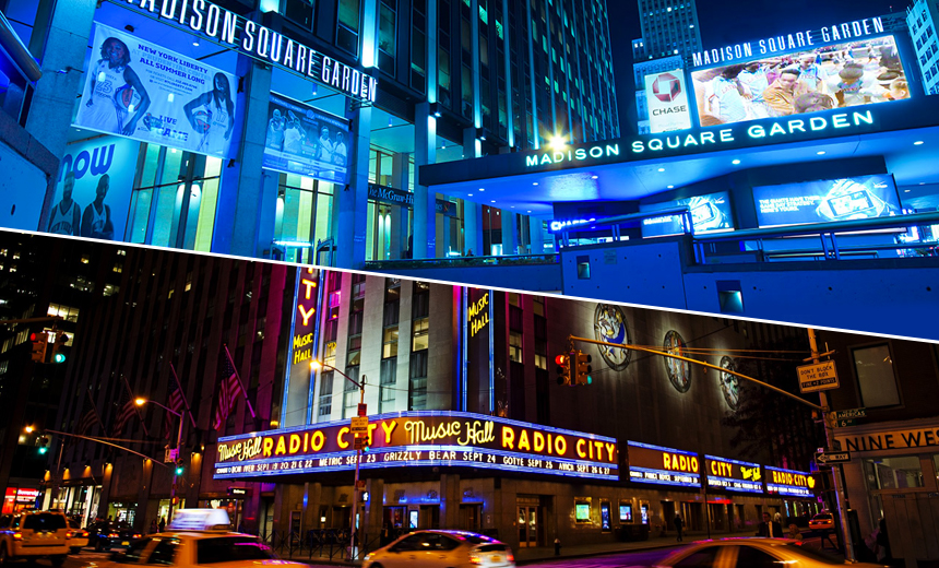 Madison Square Garden, Radio City Music Hall Breached