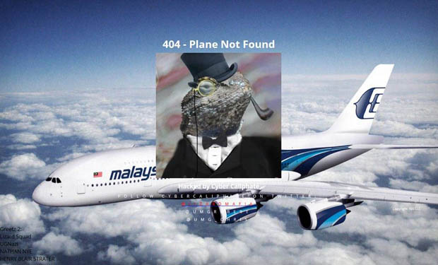 Malaysia Airlines Website Hacked